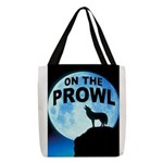 WOLF PROWL Polyester Tote Bag