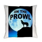 Wolf Prowl Everyday Pillow