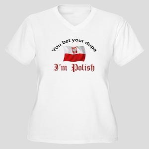 Polish Dupa 5 Women's Plus Size V-Neck T-Shirt