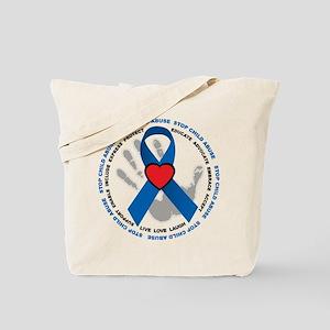 Stop Child Abuse Ribbon Tote Bag
