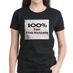 100 Percent Fish Farm Manager Women's Dark T-Shirt