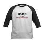 100 Percent Fish Farm Manager Kids Baseball Jersey