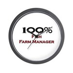 100 Percent Fish Farm Manager Wall Clock