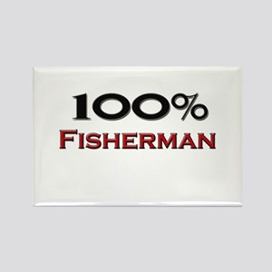 100 Percent Fisherman Rectangle Magnet