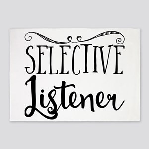 Selective Listener 5'x7'Area Rug