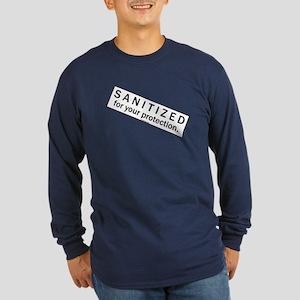 Sanitized Long Sleeve Dark T-Shirt