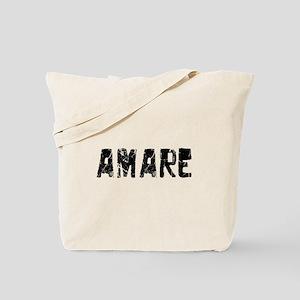 Amare Faded (Black) Tote Bag