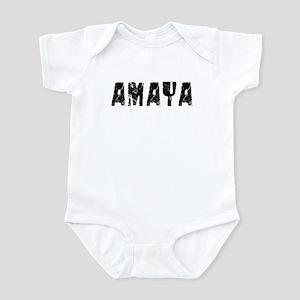 Amaya Faded (Black) Infant Bodysuit