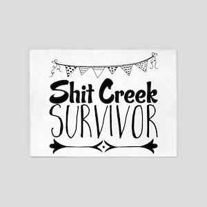 Shit Creek Survivor 5'x7'Area Rug