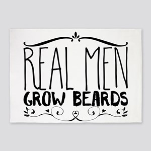 Real men grow beards 5'x7'Area Rug