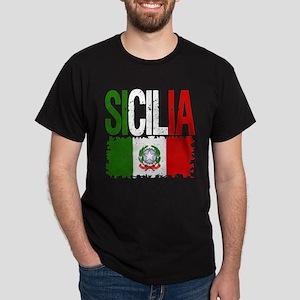 Classic Retro Sicilia Dark T-Shirt