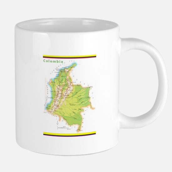 Colombia Green map Mugs