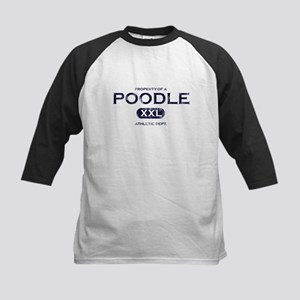 Property of Poodle Kids Baseball Jersey