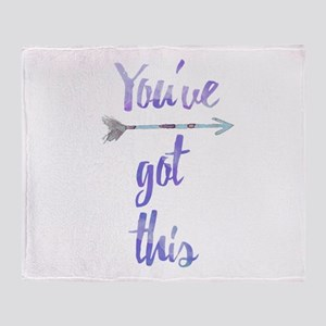 You've Got This Focus Throw Blanket