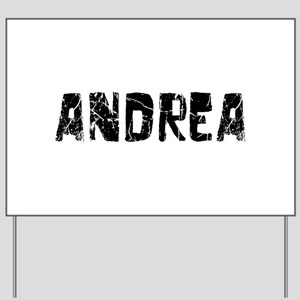 Andrea Faded (Black) Yard Sign