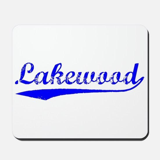 Vintage Lakewood (Blue) Mousepad