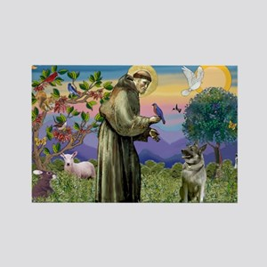 St Francis / Nor Elk Rectangle Magnet