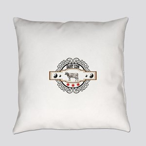 ying yang cow of milk Everyday Pillow