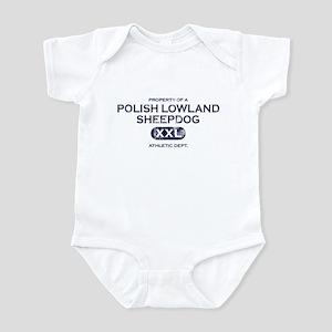 Property of Polish Lowland Sheepdog Baby Bodysuit