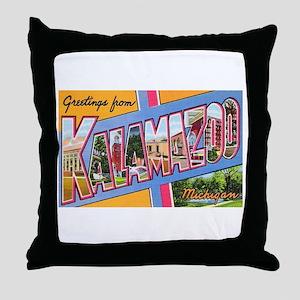 Kalamazoo Michigan Greetings Throw Pillow