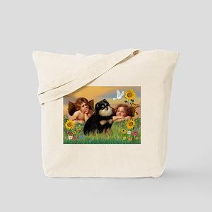 Angels / Pomeranian (b&t) Tote Bag