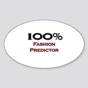 100 Percent Fashion Predictor Oval Sticker