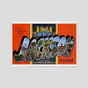Jackson Michigan Greetings Rectangle Magnet