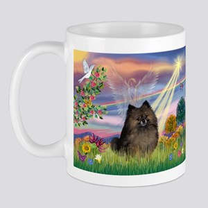 Cloud Angel Brindle Pom Mug