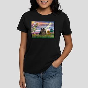 Cloud Angel Brindle Pom Women's Dark T-Shirt