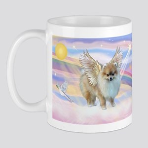Clouds & Pomeranian Angel Mug