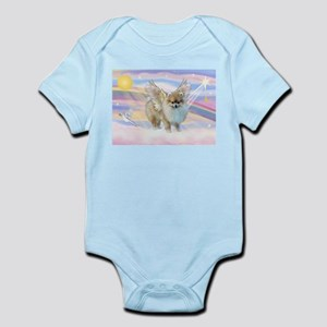 Clouds & Pomeranian Angel Infant Bodysuit