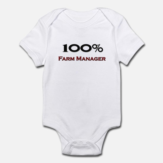 100 Percent Farm Manager Infant Bodysuit
