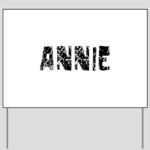 Annie Faded (Black) Yard Sign
