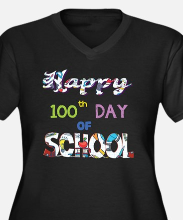 Happy 100th Day Of School T Shir Plus Size T-Shirt