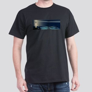 Lighthouse Night Background T-Shirt