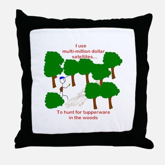 Geocaching Throw Pillow