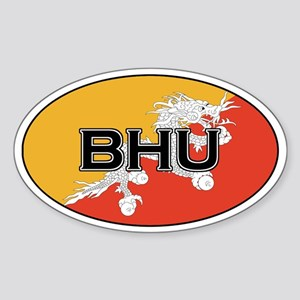 Bhutan stickers Oval Sticker