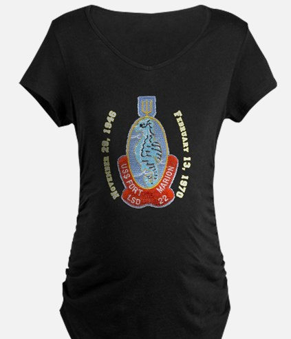 USS Fort Marion LSD 22 Decomm Maternity Dark Tee
