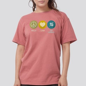 Peace Love Art Therapy Women's Dark T-Shirt