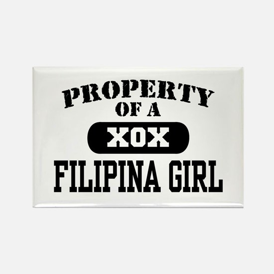Property of a Filipina Girl Rectangle Magnet