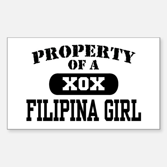Property of a Filipina Girl Rectangle Decal