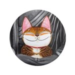 "Cat Art ~ Cat Sutra II3.5"" Button"