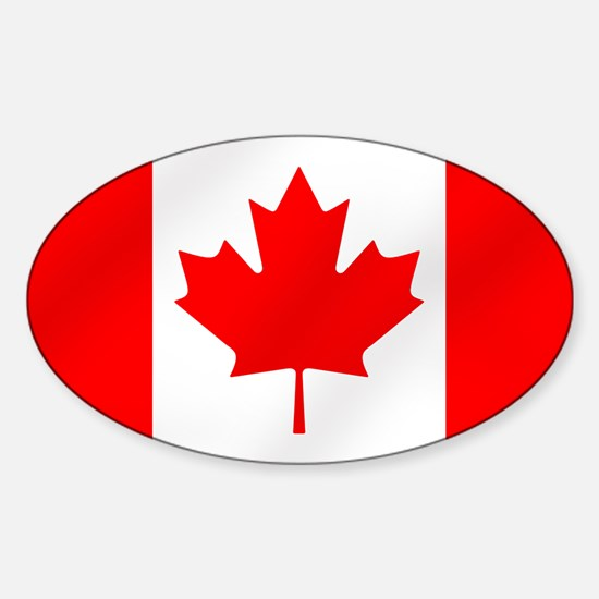 Canadian Flag Sticker (Oval)