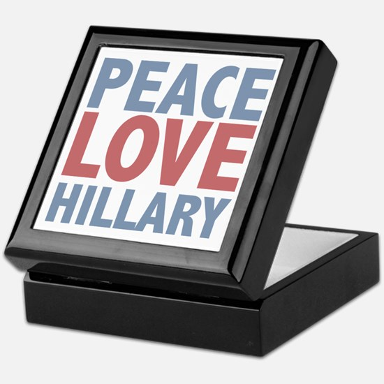 Peace Love Hillary Clinton Keepsake Box