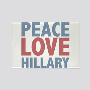 Peace Love Hillary Clinton Rectangle Magnet