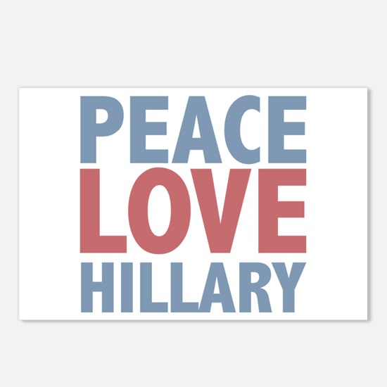 Peace Love Hillary Clinton Postcards (Package of 8