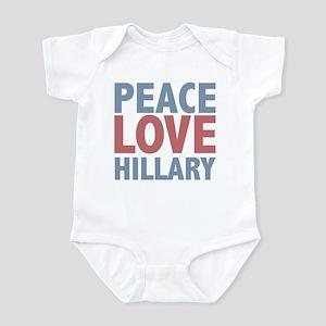 Peace Love Hillary Clinton Infant Bodysuit
