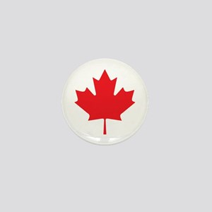Canadian Maple Leaf Mini Button