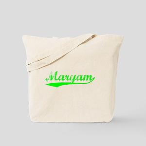 Vintage Maryam (Green) Tote Bag