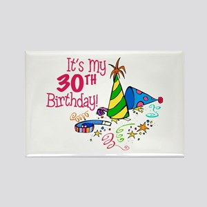 It's My 30th Birthday (Party Hats) Rectangle Magne
